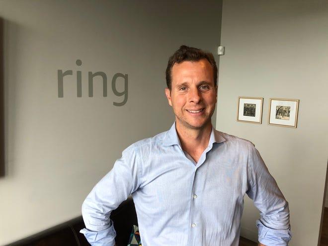 جيمي سيمينوف ، مؤسس Ring ، في حدث أمازون في سياتل