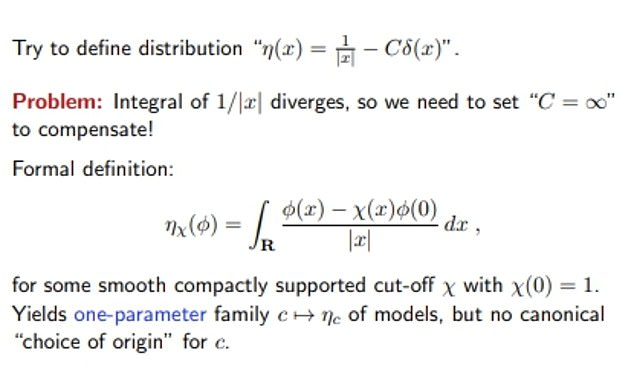 The photo is another one of the complicated equations of the Austrian-British professor from his website