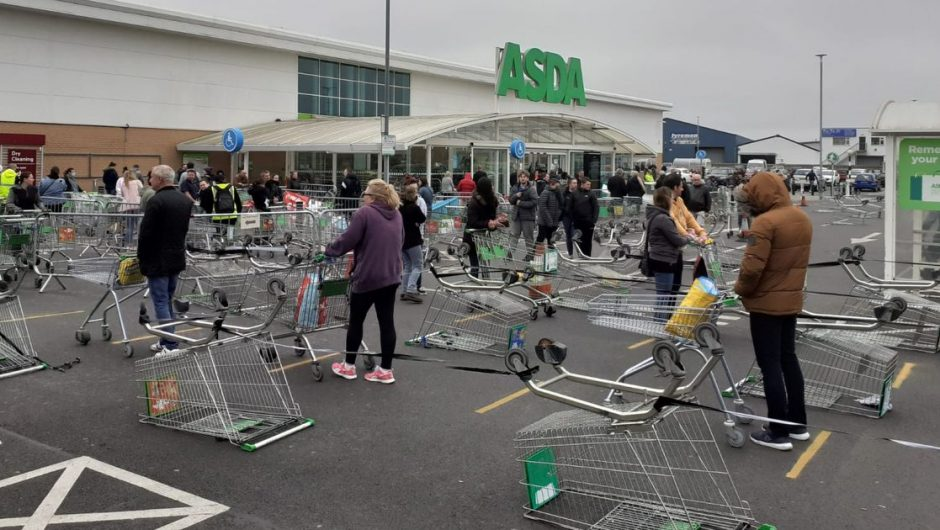 Asda, Tesco, Iceland, Sainsbury and Aldi rules, with strict restrictions starting Monday
