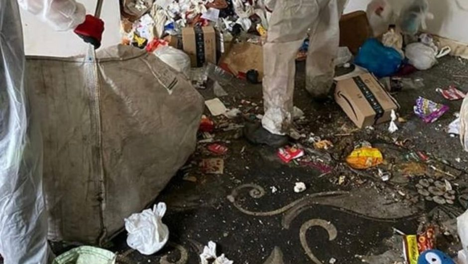 "Removers flush waistband into Britain's ""worst house"" filled with trash and bottles of urine"