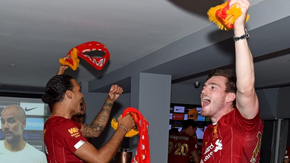 Andy Robertson explains Liverpool's reaction to a Chelsea jersey selfie in his WhatsApp group