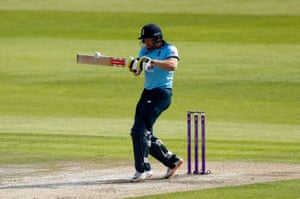 He hits Bairstow for four.
