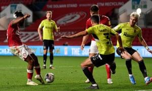 Bristol City's Antoine Semenio scored the third goal for his team.
