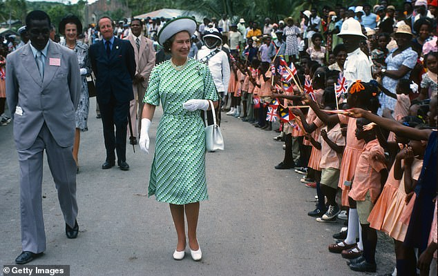 Moving on: On Wednesday, the Caribbean island government announced its plans to become a republic by November 2021. The Queen was photographed in Barbados in 1977