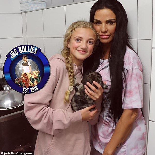 Tragic: Katie was criticized by animal rights activists after her daughter, the princess, suffocated