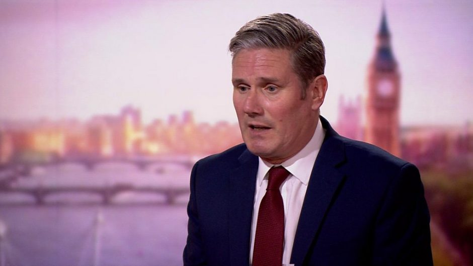 """The prime minister should apologize for the """"crash"""" test, says Starmer"""