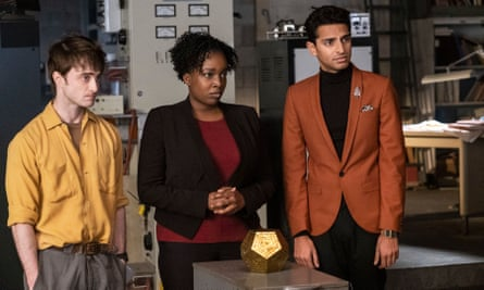 They make money from the moves ... Adefope in Miracle Workers with Daniel Radcliffe and Karan Soni.