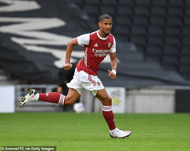 Arsenal may offer their first competitive match against William Saliba against Leicester City on Wednesday