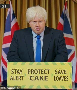 Pick-off: Matt Lucas impersonates humble Boris Johnson in hilarious skit making his debut