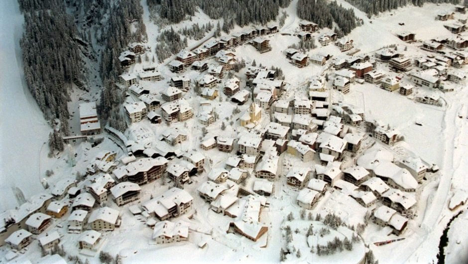 Aerial view of Ischgl, which had one of Europe's first outbreak's of the coronavirus.