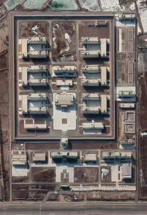 Satellite images of the new facility near Kashgar in January 2020.