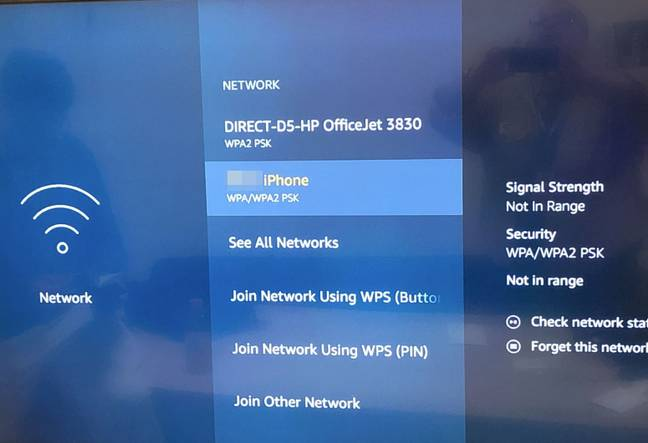 A workers' portable hotspot is listed as one of the available WiFi networks.  Source: MTA Office of the Inspector General