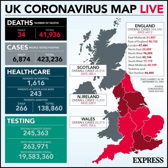 UK Coronavirus Map: Latest Statistics