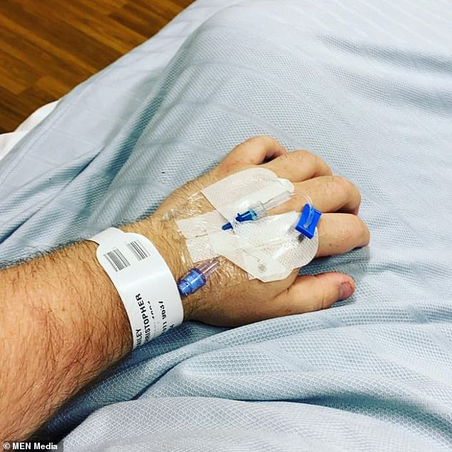 Chris was on vacation in the Canary Islands last week and was diagnosed with Coronavirus and severe pneumonia three days ago.