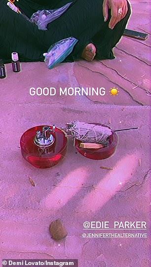 'good morning!'  Meanwhile, former Disney Channel star Sage burned down on Saturday in Instastory tagging designer Eddie Parker and therapist Jennifer Schaefer