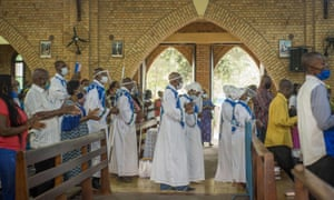 Mass at the Cathedral of Notre-Dame de Congo in Kinshasa.