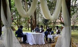 A wedding in Nairobi attended by a few relatives, and it lasts only fifteen minutes.