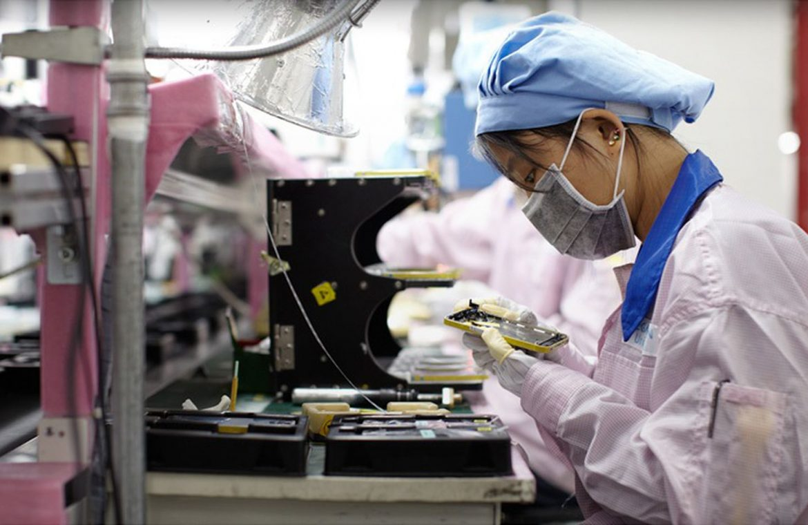"""IPhone 12 production lines in Foxconn's Zhengzhou Factory in China run """"24 hours a day"""""""