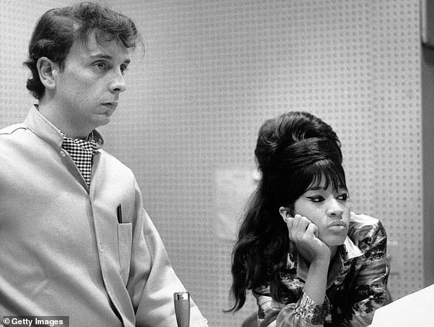 A tumultuous divorce: The ladies were signed by the famous unstable record producer Phil Spector, 80, whom Rooney married in 1968, before their troubled divorce in 1974 (pictured in 1963)