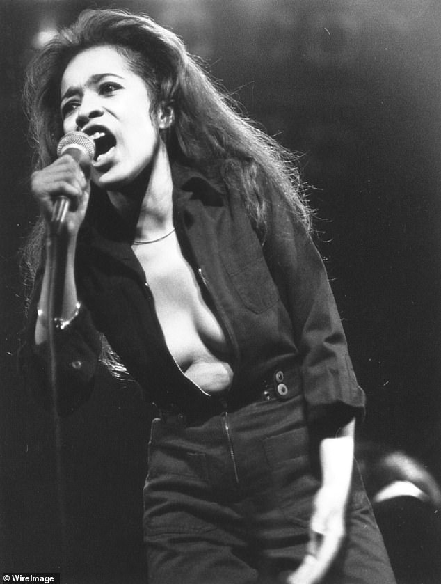 Leading Lady: She is in talks to star in the 1960s music icon Ronnie Spector in the biopic A24 of the Walking in the Rain artist, and Ronnie herself has reportedly asked for the role (pictured in 1977)