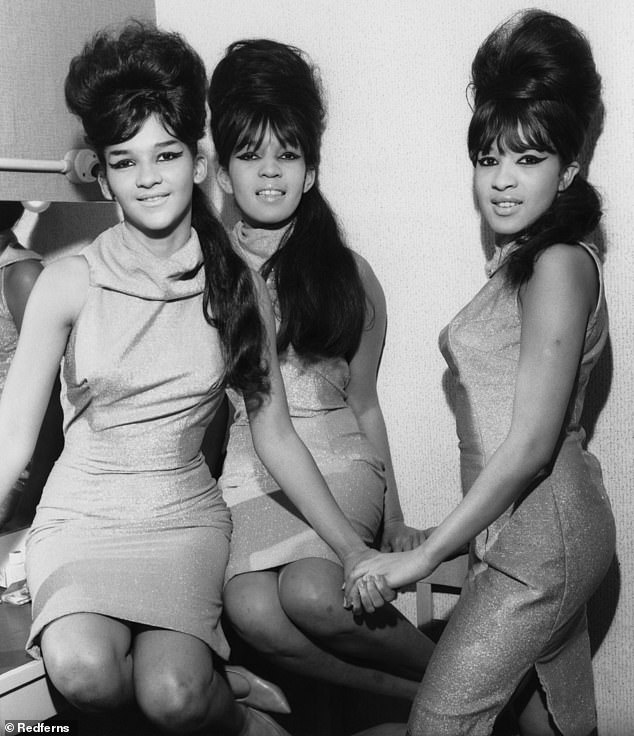 Girls' group: Veronica Yvette Bennett was born, Ronnie was raised in Spanish in Harlem, before the formation of the girl group The Ronettes with her older sister Estelle Bennett and her cousin Nidra Tally (pictured around 1960)
