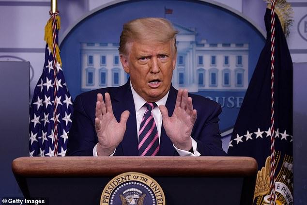 President Donald Trump said at a press conference Friday