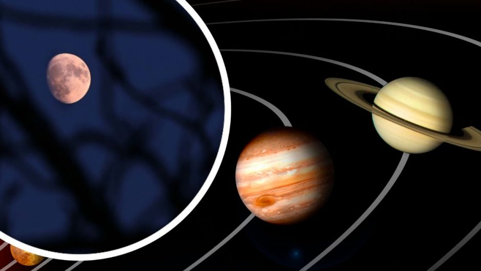 Jupiter and Saturn make a triangle with the moon – the meteorological bureau forecast and when to see them