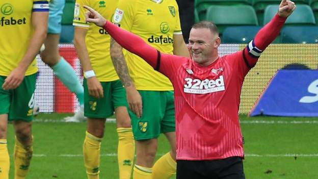 Norwich City 0-1 Derby County: Wayne Rooney scores the winning goal after wasting a Timo Bucky penalty kick