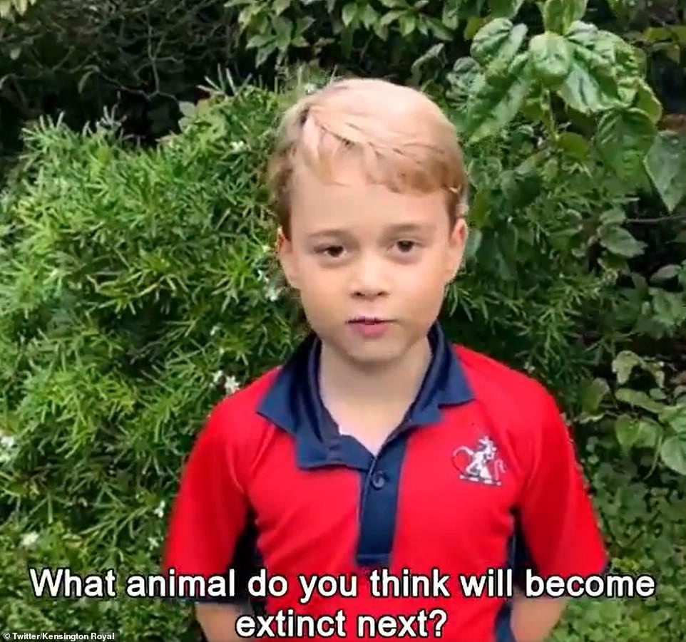 Prince George asks the idol: