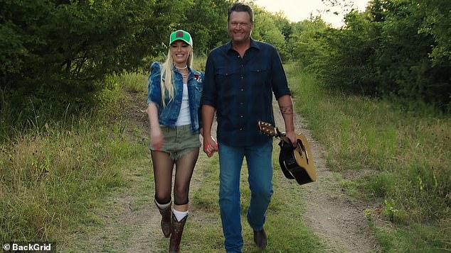 Only the Two of Us: The couple stood in a cornfield to grab their latest country duet that debuted in July and followed the December issue of