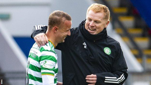 Lee Griffiths and Neil Lennon