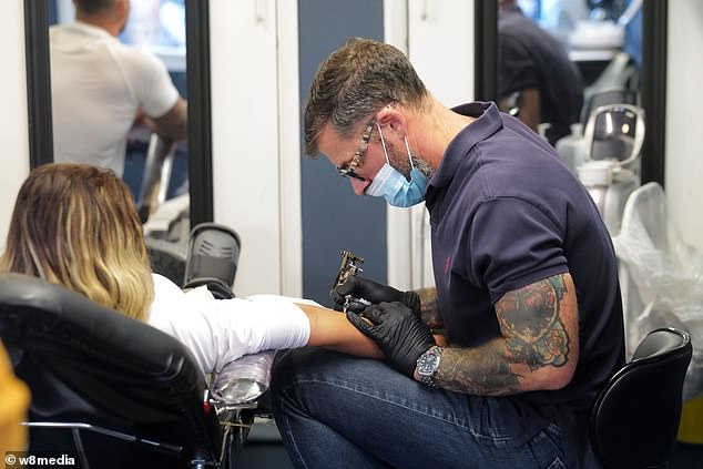 Ouch!  In a previous YouTube clip of the couple, they pictured themselves heading to the tattoo parlor together after agreeing to get joint inks