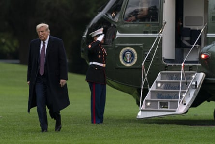 President Donald Trump walks from Marine One to the White House in Washington, Thursday, October 1, 2020, as he returns from Bedminster, NJ