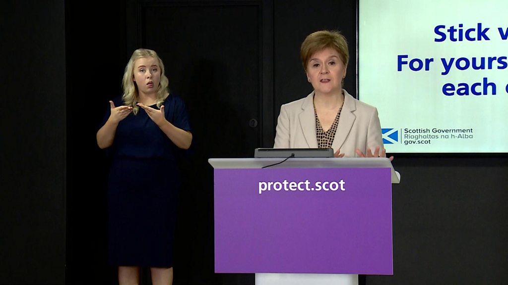 Covid in Scotland: Nicola Sturgeon 'not proposing a return to full lockdown'