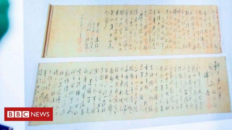 A scroll worth millions was found stolen from Mao Zedong cut in half