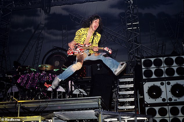Myth: Meanwhile, the rest of the iTunes charts were chalk-laden with Van Halen's singles topping a third of the top 100 following the death of legendary guitarist Eddie Van Halen this week (seen in Jacksonville again in 1984)