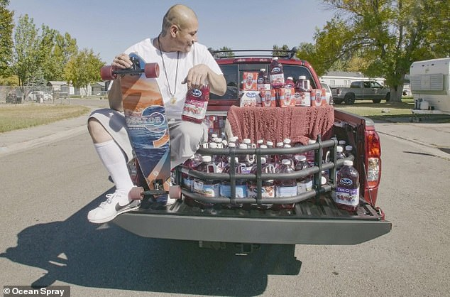 Big Range: Not only did Apodaca enjoy internet fame, she also got a generous gift as Ocean Spray gave him a brand new cranberry red truck with a box full of merchandise from the brand