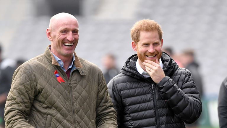The couple shares a joke at a Terrence Higgins Trust event ahead of National HIV Testing Week