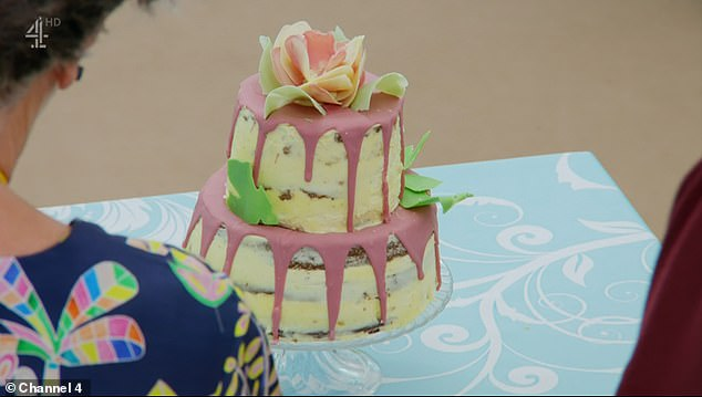 Final Round: The last assignment was the Showstopper Tour where the contestants had to bake a celebration cake with white chocolate (Surah image)
