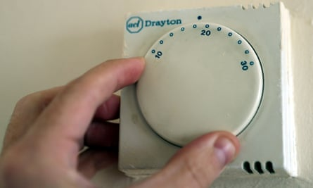 Thermostat for gas central heating.