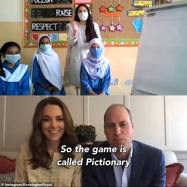 Pupils said they'd like to play Pictionary with the Duke and Duchess of Cambridge (pictured)