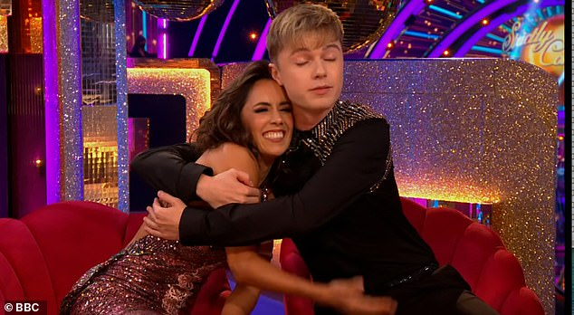 Support: Janet is paired with HRVY, 21, on this year's Strictly Come Dancing series