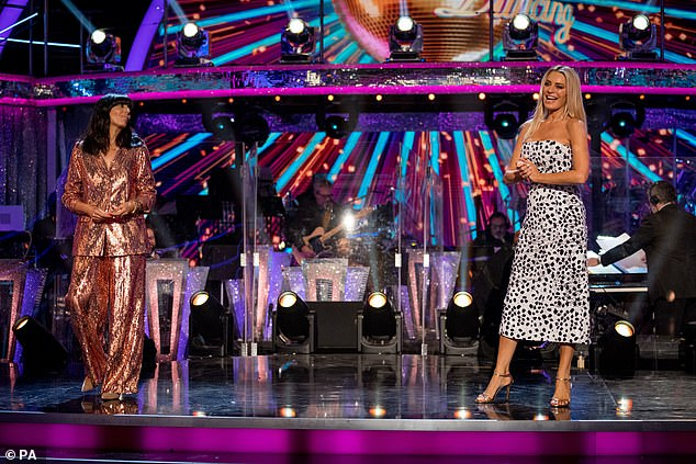 Staying Safe: Hosts Claudia Winkleman and Tess Daly also set strict social distancing measures when they opened the series.