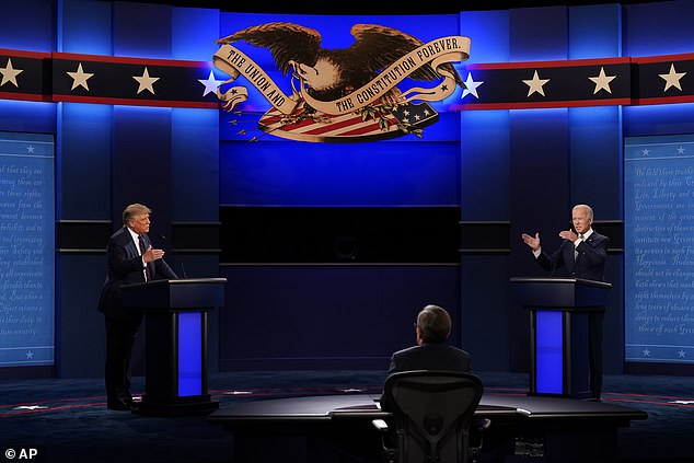 Bannon's recent comments cast a somewhat more pessimistic tone on remarks made just days earlier during a speech to the Republican Youth Union, in which he firmly stated that not only would Trump win on November 3, but he would be victorious much sooner. Trump and Biden are photographed during the presidential debate