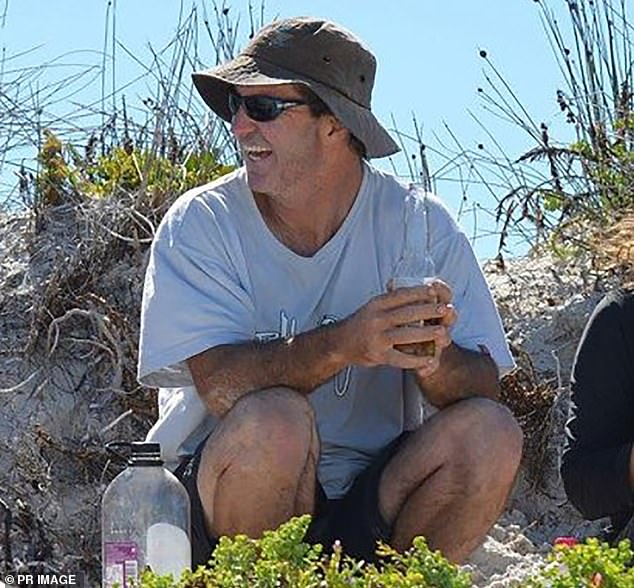 Andrew Sharp's father (pictured) was killed by a shark while surfing at Kelp Beds in Wylie Bay, near Esperance on the south coast of WA