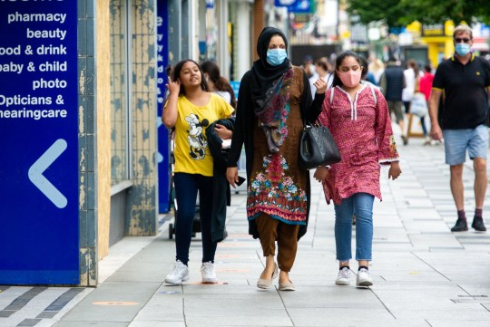 Wearing face masks in shops and indoor public places in England became crazy yesterday after the COVID-19 pandemic.