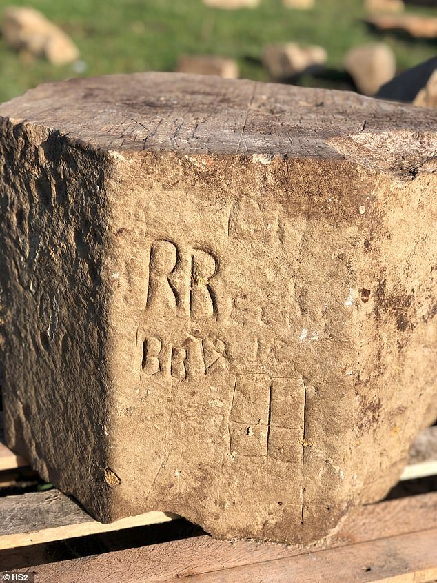 The site is in the middle of a railway project and HS2 archaeologists were cleaning it up when they found ancient graffiti