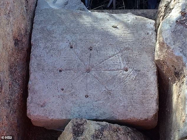Researchers at HSR, the company involved in the project, spotted inscriptions on various stones of what was previously Saint Mary's, which had a central hole engraved with lines forming a circle