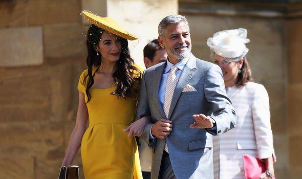 Prince Harry news: George and Amal Clooney at the 2018 Sussex royal wedding