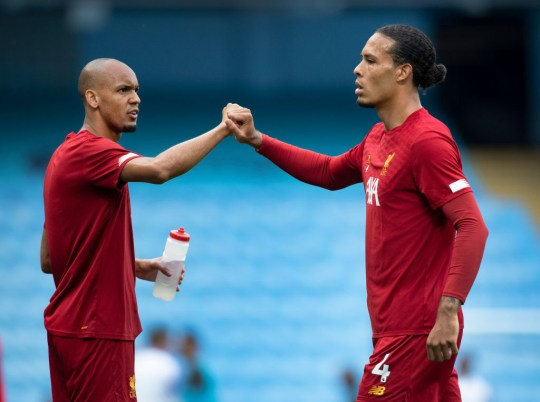 Fabinho and Virgil van Dijk clenched his fists before the Liverpool match